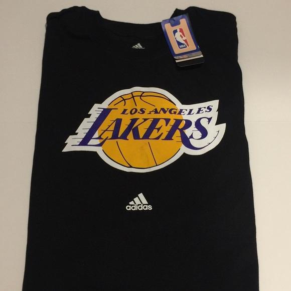 f10b0047c8c adidas Other - Men s Shirt Black LA Lakers Short Sleeve